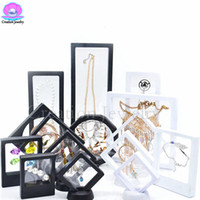 exibição de moldura de jóias venda por atacado-Atacado de Alta Qualidade 2018 3D Quadro Flutuante Caixa de Exibição Titular com Stands para Moedas de Desafio, Medalhões, Jóias