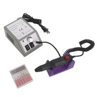 Wholesale electric toenail drill resale online - USA Delivery Nail Grinder Polisher Set Nail Art Care Electric Manicure Toenail Drill File Tool Beauty Equipment