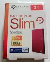 seagate sabit diskler toptan satış-Yeni 2018 Seagate Yedekleme Artı yeni farce 2TB hd externo taşınabilir harici sabit disk sürücüsü USB 3.0 hdd 2tb kırmızı