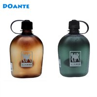Wholesale Branded Drink Bottles - DOANTE Brand 500ml 750ml 1000ml Creative Water Bottles Outdoor Sports Hiking Bottle Tour Climbing Botlle With Lid