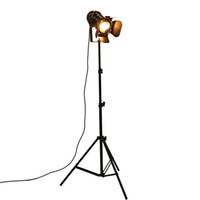 промышленные стенды оптовых-Industrial Bar Creative Studio Retro Tripod Black Floor Lamp Lights Room Light Stand OY16F01 Free shipping