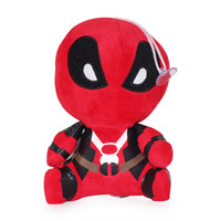 Wholesale marvel comics toys online - 20CM Cartoon Marvel Deadpool Plush Toys Soft Stuffed Doll PP Cotton Stuffed Animal Kids Gift Toy