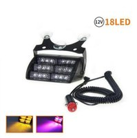 Wholesale Lighting Fireman - LED Warning Lights 18 LED Strobe Lights Suction Cups Light Fireman LED Flashing Light Emergency Security Car Truck Light Signal Lamp