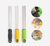 Wholesale Free Cheese - Free Shipping 3pc  Set Kitchen Tools Fruit Gadgets Stainless Steel Lemon Zester Cheese Slicer Vegetable Grater Chocolate Shredder