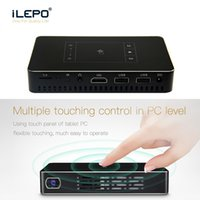 Wholesale play manual resale online - 2018 Portable P Home projector Portable android led projector Giant screen K smooth play mini projector G G HDMI dual WiFi BT4