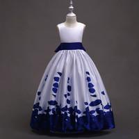 Vestidos De Niñas Blanco Con Azul Cv Magazine