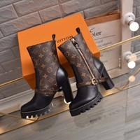 Wholesale snow boots size 42 resale online - High Heels Designer Women Boots Cowboy Womens Ankle Snow Boots Best Quality Boots Ladies Winter Designer Heels Plus Size Eu35 with box