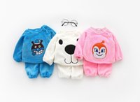 Wholesale baby sets superman resale online - 2018 Baby Boys and Girls Cartoon Superman Animal Baby Home Service Set Clothing Sets