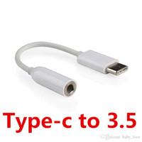 weibliche jack usb male groihandel-USB 3.1 Typ-C zu 3.5mm Ohrhörer Kabel Adapter Typ C USB-C Stecker zu Buchse Jack USB 3.1 Audio Kabel Adapter für Typ-C Smartphone