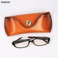 женские сумки ручной работы оптовых-Genuine Leather Eye Glasses Case Vintage Handmade Hard Eyewear Accessories Sunglasses Cases  Spectacles Box Bag Men Women