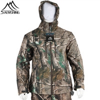 зимняя охотничья одежда оптовых-Saenshing  Winter Hunting Clothes Men Waterproof Thermal Camouflage Jacket Male Hunting Hiking Wear-Resistant Outdoor Coats