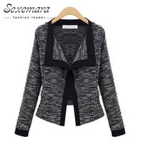 Wholesale Types Jacket Women - New European Style Long Sleeves Bomber Jacket Turn-down Collar Casual Knitted Cardigan Loose Type All-match Female Coat ZWS25