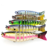 Wholesale Bass Fishing Plastic Baits - Fishing 8 Segment Lure Joint Plastic Hard Bait 15.5cm 53g Culter Bass Eight Part Fish Fresh&Salt Artificial Lure Fishing