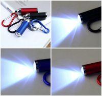 Wholesale led mini torches keychain - Mini Convex Mirror LED Flashlight Lamp Light Torch Keychain Keyring New OE Portable Flashlight Keychain DDA142