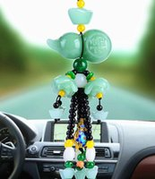 Wholesale circles car for sale - Group buy Car pendant jade jewelry high end rear view mirror pendant into the peace symbol car pendant
