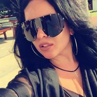 lunettes de soleil kim kardashian achat en gros de-SOZO TU Femmes Kim Kardashian Surdimensionné Goggle Lunettes De Soleil Pour Femmes medusa Lunettes De Soleil Lunettes Coupe-Vent Lunettes Noir Verres Lunettes