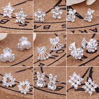 Wholesale studs stores for sale - Group buy For UK STORES SILVER PLT SIMPLE ELEGANT STUD EARRINGS BUTTERFLY LADIES WOMENS PEARL CZ Shining CRYSTAL DIAMOND STUDS EARRINGS