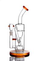 ingrosso impianto di piegatura a olio di vetro-Tubi qualità Spessa Alta Glass Bong Bent Tipo bicchiere d'acqua Fab Egg il tubo di fumo Recycler piattaforme petrolifere Bong 2016 Nuovo 2 Funzione