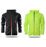 Wholesale hooded mens light jacket - Mens Hooded Brand Thin Jackets Free Shipping Male Fashion Jersey Spring and Autumn Gradient Zipper Windrunner Light Windbreak Zipper Hoodies