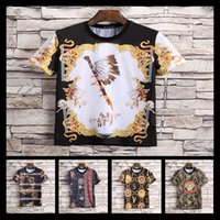 Wholesale broadcloth weave - 2018 New Luxury Brand Embroidery T Shirts For Men Italy Fashion Poloshirt Shirt Men High Street Snake Print Mens T-shirt