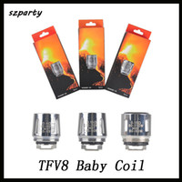 Wholesale v8 x4 coil resale online - TFV8 Baby Coil head V8 Baby Replacment T8 T6 X4 M2 Q2 ohm ohm For TFV8 Baby Tank Standard Version DHL