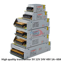 fuente de alimentación de ca dc 48v al por mayor-AC DC 5V 12V 24V 36V 48V Fuente de alimentación 2A / 3A / 4A / 5A / 6A / 10A / 20A / 20A / 30A / 40A / 60A 110 / 220V Transformador para LED Luz de tira LED Controlador LED