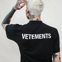 Wholesale Staff Animal - SS16 Summer Vetements Letter Print Men Black White Short Sleeve T Shirt Hiphop STAFF Fashion Casual Cotton Tee S-XL HFYTTS048