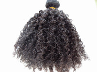 Wholesale thick curly hair extensions - Human Hair Extensions 3B 3C Clip In Hair Extensions Brazilian Kinky Curly Virgin Human Hair Thick Weft 120G 2Sets Full Head