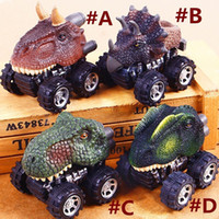 Wholesale mini pull back car - Pull Back Dragon Car Cute Dinosaur Toy Car Dinosaur Models Mini Toy Cars 7*5*6cm Gift for Kids