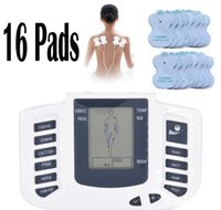 Wholesale Massage - Electrical Stimulator Full Body Relax Muscle Therapy Massager Massage Pulse tens Acupuncture Health Care  Machine 16 Pads