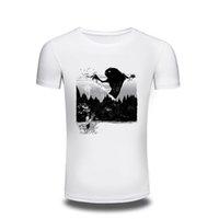 ingrosso disegno freddo della camicia bianca-Camping T-Shirt T Shirt Mens Design Pikachu Funny Cool T-shirt Manica corta Anime White Printed Tshirt Uomo Unisex Tee Abbigliamento uomo f