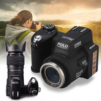 telefoto dijital kameralar toptan satış-Protax / POLO D7200 Dijital Kamera 33MP 1080 P Otomatik Odaklama SLR HD Video Kamera 24X + Telefoto Lens Geniş Açı Lens LED Işık Doldurun