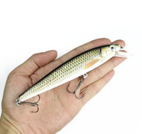 Wholesale floating big lure resale online - Big Size Noise Model Minnow Fishing Lure cm g Lifelike Minnow Bait Swimbait Top Water Floating Fish Lure Casting Bait Y1890402