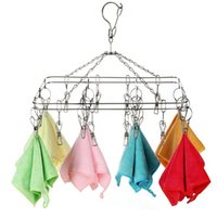 Wholesale Clothes Drying Hangers - Hanging Rack Non-Slip Metal Shirt Trouser Coat Clothes Hook Hangers Save Space Storage Organizer Dry Rack WA930
