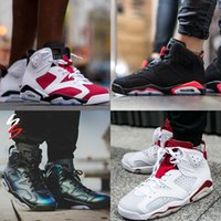 Wholesale Mens Army Boots - Wholesale Mens Air Retro 6s VI Basketball Shoes High Quality Sports Running sneakers for Women men Trainers Athletics Boots Retro 6 shoes