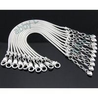 Wholesale heart lobster clasp chain bracelet online - 10 Silver Plated Lobster Clasp Snake Chain Charm Heart Bracelets Bangles For European Beads Jewelry Diy Sets Pp13