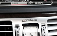 autoloten für lenkrad großhandel-Mercedes Benz amg Logo Marke Emblem Aufkleber Aufkleber Lenkrad Lagerkreis Zentralsteuerknopf Autoinnenraum amg Free Refit Aufkleber