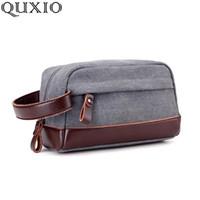 b187b30428 Nuova borsa di tela degli uomini di tela di affari di modo casuale versione  coreana del sacchetto della frizione cambiare le borse a mano della  chiusura ...