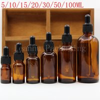 glass cosmetic bottles droppers 2018 - Brown Glass Essential Oil Dropper Bottle,Homemade Empty Cosmetic Containers,Medicine Dropper Bottle,Refillable Perfume Bottles