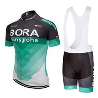 Wholesale cycling jerseys sizing - UCI 2018 Bora Cycling Clothing Bike jersey Ropa Mens Bicycling jersey short sleeves pro Cycling Jerseys bibs shorts set