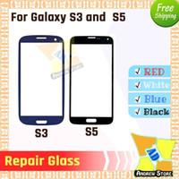 samsung galaxy s3 mini großhandel-100 teile / los Hohe Qualität Front Touchscreen Äußere Glaslinse Für Samsung S3 S3mini S4 S5 reparatur glas DHL Freies Shiping