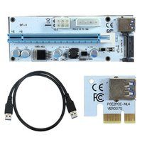 Wholesale Pci Interface Cards - NEW USB3.0 PCI-E Riser Express 1X 4x 8x 16x Extender Riser Adapter Card SATA 15pin Male to 6pin Power Cable Dual Power Interface