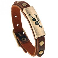 einstellbares paar armband großhandel-Legierung retro armband paar geschenk schmuck einstellbar punk unisex armband