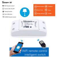 interruptor de luz remoto 433mhz venda por atacado-Sonoff RF Interruptor Interruptor Inteligente WiFi 433 Mhz Receptor RF Inteligente Sem Fio ewelink app Controle Remoto Para Casa Inteligente Interruptor de Luz Wi-fi