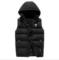 lüks erkekler kışlık toptan satış-Lüks Erkekler dış giyim kış yelek aşağı yelek tüy tasarımcı ceketler rahat yelek ceket erkek kat aşağı