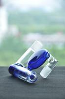 grüne aschefänger großhandel-Abgewinkelt 18,8 mm Joint Lacunaris Inline Aschefänger für Glasbongs Glasbubbler grün Diffuser Inline Perch Aschefänger