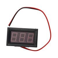 digitaler gleichspannungsmonitor großhandel-10pcs Digital Voltmeter 70V bis 500V 0,56 Zoll LED Digital Panel Meter Spannungsprüfer RED Monitor