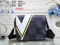 Wholesale e bow - 2018 Famous Brand Leather Men Women Bag Briefcase Casual Business Leather Mens Messenger Bag e Men's Crossbody Bag male wallet Shoulder Bags