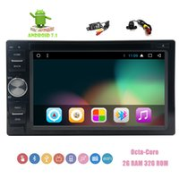 Wholesale car front rear view camera - Front&Backup Camera+Eincar Car dvd Stereo 6.2'' Touchscreen Octa-core GPS Navigation Bluetooth Car GPS Stereo System in Dash Double din