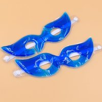 Wholesale cool half face masks online - Therapeutics Soothing Beauty Eye Mask Reusable Ice Cold Gel Eye Mask Relaxes Tired Eyes Diary Cool Protective Eyes Massager Mask GGA733